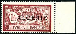 N°29a, 1 F. Lie-de-vin, Sans Teinte De Fond, Bord De Feuille, Superbe