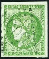 France N°42B, 5 C. Vert-jaune, Oblitéré GC 5055 (Philippeville), TB