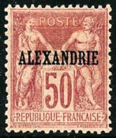 N°14, 50 C. Rose, Type I, TB