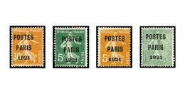 N°26/29, Postes Paris 1921, Les 4 Valeurs, TB