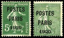 N°24/25, Postes Paris 1920, Les 2 Valeurs, TB