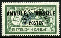 Préoblitéré N°44-CI1, 45 C. Vert-bleu, Surchargé ANNULE Deux Fois, TB