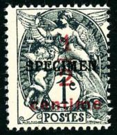 N°157-CI4, 1/2 Sur 1 C. Ardoise, Surchargé SPECIMEN, Superbe