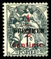 N°157-CI4, 1/2 Sur 1 C. Ardoise, Surchargé Spécimen, TB