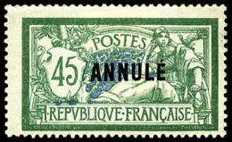 N°143-CI1, 45 C. Vert Et Bleu, Surchargé ANNULE, TB