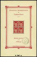 N°1b, Paris 1925, Avec Cachet De L'exposition Hors Timbres, Superbe