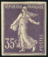 N°136b, 35 C. Violet, Non-dentelé, Superbe (cote Sans Gomme)