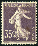 N°136a, 35 C. Violet, Type I, Rousseur Sinon TB