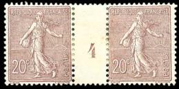 N°131, 20 C. Brun-lilas, Paire Millésime 4, TB