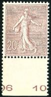 N°131, 20 C. Brun-lilas, Bas De Feuille, Superbe