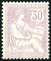 N°128, 30 C. Violet, TB
