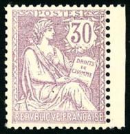 N°128, 30 C. Violet, Bon Centrage, Superbe