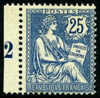 N°127, 25 C. Bleu, Superbe