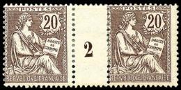 N°126, 20 C. Brun-lilas, Paire Millésime 2, TB