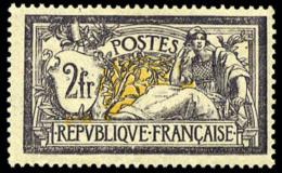N°122, 2 F. Violet Et Jaune, TB