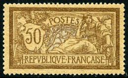 N°120d, 50 C. Brun Et Gris, Papier GC, Très Bon Centrage, Superbe