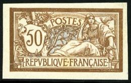 N°120a, 50 C. Brun Et Gris, Non-dentelé, Infime Rousseur Sinon TB