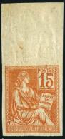 N°117c, 15 C. Orange, Non-dentelé, Haut De Feuille, Petite Rousseur Sinon TB