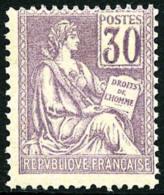 N°115, 30 C. Violet, TB