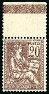 N°113, 20 C. Brun-lilas, Bon Centrage, Haut De Feuille, Superbe