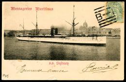 N°111, 5 C. Vert, Oblitéré De Bombay (Inde) Sur Carte Postale Du 7 Décembre 1905 Pour Marseille