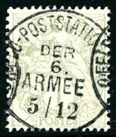 N°107, 1 C. Gris, Avec Oblitération De Feldpost Station, Superbe