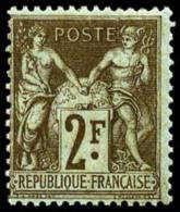 N°105, 2 F. Bistre Sur Azuré, TB