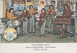 LINDE-PEER-THE SUNNY BOYS-DANS-EN SHOWORKEST-KELCHTERMANS-PROMOKAART+ - 10-15 CM-ZIE 2 SCANS-MOOI ! ! ! - Peer