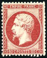 N°24, 80 C. Rose, Dentelure Irrégulière Sinon TB