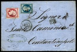 N°22, 20 C. Bleu Et N°24, Oblitérés Ancre Sur LAC Avec Càd Du Paquebot Caire Du 21 Novembre