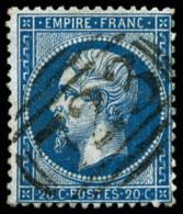 """N°22, 20 C. Bleu, Avec Oblitération Anglaise """"723"""", TB"""