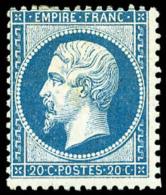 N°22, 20 C. Bleu, Centrage Courant Sinon TB