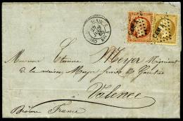 """N°21, 23, Oblitérés Losange CEM A Sur LSC Avec Càd """"CORPS EXP MEXIQUE/BAU A"""" Du 28 Juin 1865, T"""