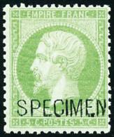 N°20f, 5 C Vert, Surchargé SPECIMEN, TB