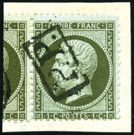 N°19, 1 C. Olive, Oblitéré PP Encadré Sur Petit Fragment, TB