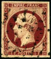 N°18, 1 F. Carmin, Oblitéré Rouleau De Gros Points, TB