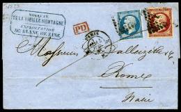N°17Ad, 80 C. Vermillonné Et N°14A, Oblitérés Losange K Sur LAC Avec Càd De Paris Du