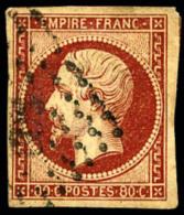 N°17Ad, 80 C. Vermillonné, Oblitéré PC, Aminci, B