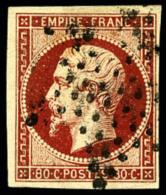 N°17Ad, 80 C. Vermillonné, Oblitéré Etoile, TB