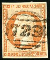 N°16, 40 C. Orange, Avec Oblitération Anglaise 723, TB