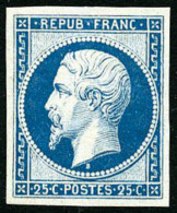 N°15c, 25 C. Bleu, Réimpression De 1862, Superbe