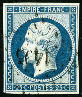 N°15, 25 C. Bleu, Oblitéré PC, TB