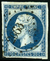 N°14Ba, 20 C. Bleu Sur Vert, Type II, Oblitéré PC 2063, TB