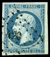 N°14Ad, 20 C. Bleu Sur Vert, Type I, Oblitéré PC 420, Superbe