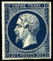 N°14Ab, 20 C. Bleu-noir, Léger Restant De Gomme, TB (cote Maury Sans Gomme)