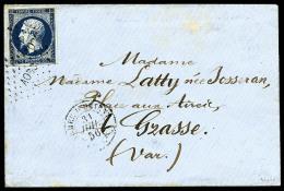 """N°14Aa, 20 C. Bleu Foncé, Type I, Oblitéré Losange AOBC Sur Enveloppe Avec Càd """"ARMEE D'"""