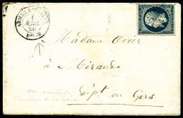 """N°14A, 20 C. Bleu, Type I, Oblitéré Losange AOM Sur Enveloppe Avec Càd """"ARMEE D'ORIENT/BAU M"""" D"""