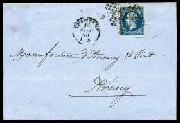 N°14A, 20 C. Bleu, Type I, Oblitéré De La Grille De Chambéry Sur LAC Avec Càd Du 18 Sept