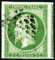 N°12, 5 C. Vert, Oblitéré Etoile, Superbe