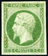 N°12, 5 C. Vert, Infime Rousseur Sinon TB